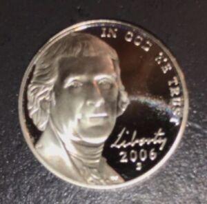 2006-S Jefferson PROOF Nickel   Designed by Felix Schlag, Reverse Monticello