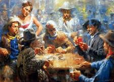 Andy Thomas Draw Poker Western Art Print 16 x 11.5