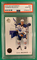 CONNOR MCDAVID PSA 10 2016 UPPER DECK SP AUTHENTIC  ... LOW POP !!!