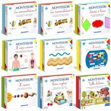 Clementoni Montessori Assortimento Giochi Educativi Bambini da 2 - 7 Anni