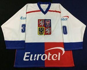 Winter Olympics Team Czech Republic Jiří Dopita #30 Hockey Jersey SizeXL