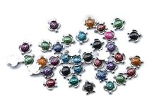 30PCS Mixed Colours of Enamel Turtle Shape Flatback #24964