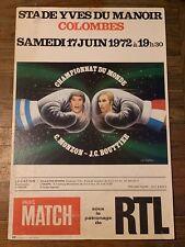 Rare 1972 Carlos Monzon vs. Jean Claude Bouttier Original On-site Boxing Poster