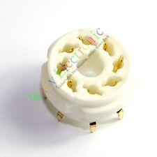 8pcs 8PIN PCB MOUNT Gold CERAMICS VACCUM TUBE SOCKET 6L6 EL34 KT88 6550 6SN7 DIY