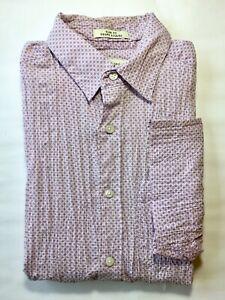 Wilke Rodriguez Men's Short Sleeve Button Down Shirt Slim Fit Lavender S