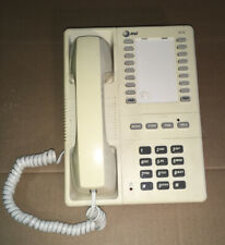 AT&T Corded Landline Memory Phone Wall 610 Tan Desk Or Wall Mount Tested
