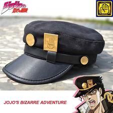 Anime Jojo's Bizarre Adventure Jotaro Kujou Cosplay Flat Cap Military Hat Badge