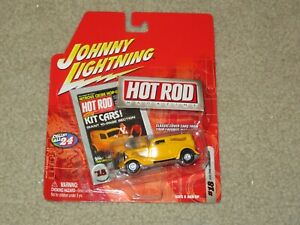 Johnny Lightning Hot Rod Magazine #18 1933 Ford Panel Delivery Yellow MOC 2003