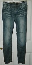 HOT KISS Blue Distressed Denim SKINNY LILY Jeans* 1