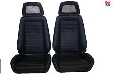 2 Recaro Idealsitz N für Opel Manta Kadett Ford Capri BMW  Leder neu bezogen