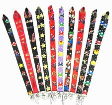 10 PCS Cartoon Super Mario Lanyard Cell Phone PDA Key ID long strap Wholesale