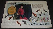 Print Ad 1942 Red Cross Shoes FOOTWEAR Women's 2-pg ART 9 Styles Milgrim Fashion