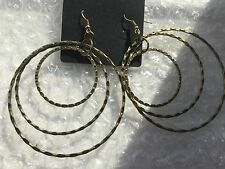 New Look Burnt Gold Drop Mixed Hoop Earrings New