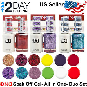 DND Gel Polish Duo Soak Off Gel & Matching Nail Lacquer Set LED/UV .5 oz 15 ml