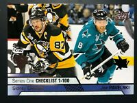 2016-17 Upper Deck Series One Checklist Sidney Crosby Joe Pavelski