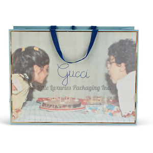 NEW RARE Authentic Gucci Birthday Cake & Candles Gift Shopping Bag 19 x 14 x 6.5