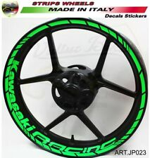 "Adesivi Kawasaki Racing per ruote cerchi 17 pollici moto Kawasaki ""JP023"""