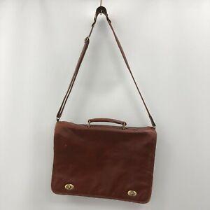 Katana Satchel Messenger Bag Brown Leather Shoulder Crossbody Laptop Work 171511