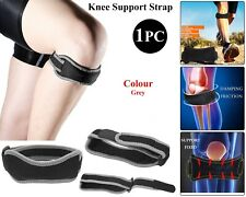 Adjustable Knie Support Brace Strap For Patella Pees Runner Reliëf Pijn - Grey