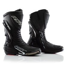 RST Tractech Evo 3 Motorcycle Motorbike Sports Race Boots - Black / Black
