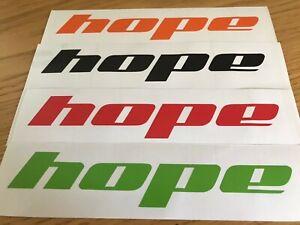 HOPE Bikes Sticker / Decal / Logo die cut vinyl Bike MTB Downhill Car VAN Helmet