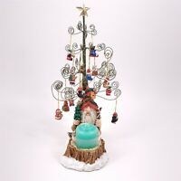 "Christmas Tree Ornament Gnome Tomte Elf Santa 10-1/2"" w/ Candle Vintage"