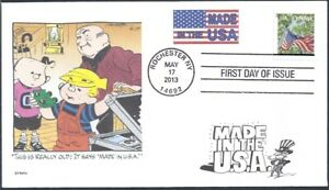 DENNIS THE MENACE  MADE IN U.S.A.    FLAG    FDC- DWc CACHET