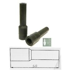 10x HT Silicona PVC aisladores para Spark Conector - 7mm 8mm Liso Negro