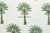 Indian Palm Tree Handmade Block Print Fabric Jaipuri Craft Sewing Material by YD