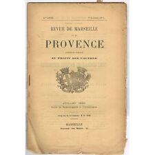Revue de MARSEILLE et PROVENCE Boyer d'AGUILLES B. De Bonnecorse A DAUGIÈRES 188