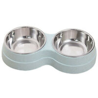 Double Pet Bowl Dog Cat Twin Food Water Container Two-in-one Bowl Pet Feeder New
