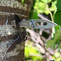 EDC Portable Stainless Steel Multi folding knife bottle opener Pocket MIni Tool