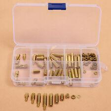 88pcs PCB M3 Hex Male Female Threaded Brass Spacer Standoffs Screw Nut Assortmen