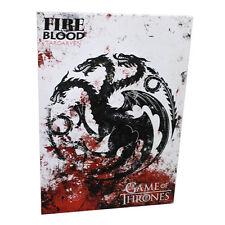 Game of Thrones * Targaryen Mounted Sigil Banner * 18 x 13 Fabric Poster Print