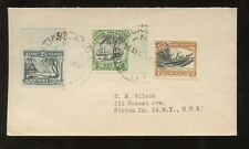 NIUE COOK ISLANDS 1948 AUCKLAND LOOSE LETTER...3 COLOUR FRANKING to USA