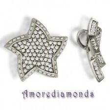 "2.52 ct G SI1 round diamond pave set star fish pendant 14k white gold 18"" chain"
