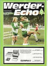 BL 85/86 Werder Bremen - Bayer 04 Leverkusen