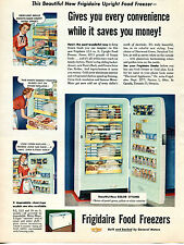 1954 Frigidaire Food Freezer Pastel Green Print Ad