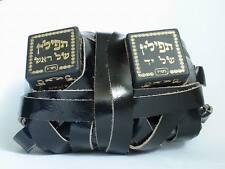 Ashkenaz Tefillin Peshutim Mehudarim Ktav Ari Clockwise Wrapping - Free Bag
