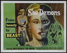 She Demons (1958) Cult Horror movie poster print