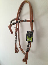 Western Natural Rawhide Braided full Head stall
