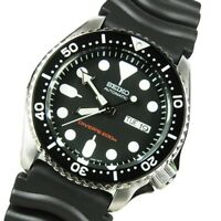Seiko 5 Automatic 200M Divers Mens Watch Black Rubber Strap SKX007K1 UK Seller