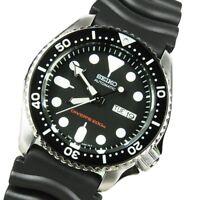 Seiko 5 Automatic 200M Divers Mens Watch Black Rubber Strap SKX007K1 UK Seller