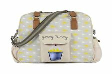 PINK LINING Baby Changing Bag Yummy Mummy Garden Birds With Cupcake Design