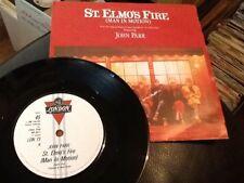 JOHN PARR . ST. ELMO'S FIRE ( MAN IN MOTION ) . From the film .1985 . NEAR MINT