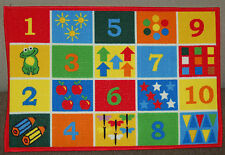 80x120cm Kids Numbers Play Mat Childrens Rug Learn Pictures Boys Girls Bedroom
