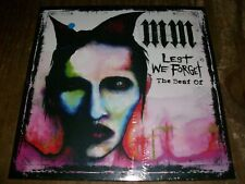 MARILYN MANSON RARE 2 LP (bleu) LEST WE FORGET THE BEST OF NEUF/SCELLE