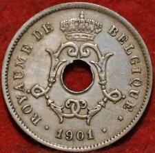 10 Centiemen 1901 - koper-nikkel - type Michaux = ZELDZAME MUNT - Prachtige munt