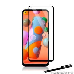 Film de protection en Verre trempé bords noir pour Samsung Galaxy A11
