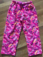 Xhilaration polar fleece pull on pajama pant pink peace sign motif 14-16